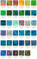 Fat Eighth Bundle - Artisan Batiks: Totally Tropical by Lunn Studios - Complete Collection
