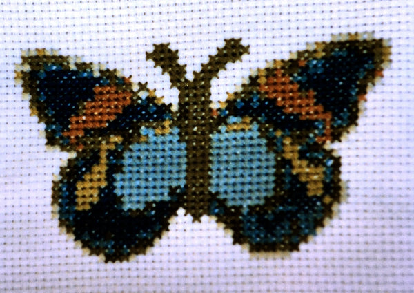 Uniquely Yours September Butterfly Cross Stitch Chart
