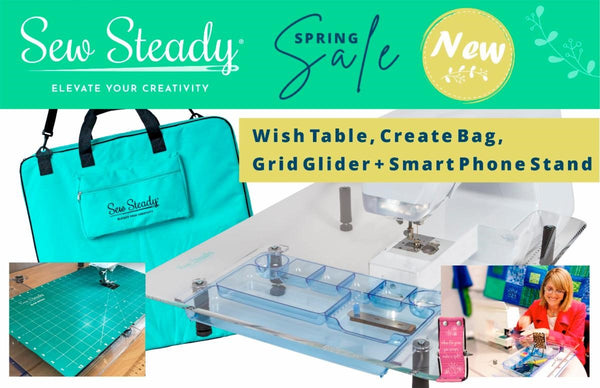 Spring Sew Steady Wish Table 22-1/2″ x 25-1/2″ with BONUS Accesories (valued at over $30 free)