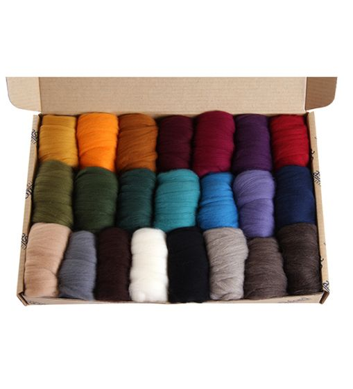 Merino Sliver Sample Pack 2 - Darks - 21 Colours