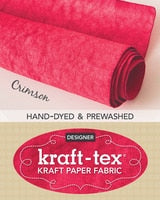 kraft-tex® Designer Colors Hand-Dyed & Prewashed Rolls - Crimson