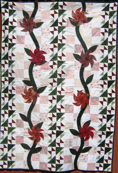 Flame Flowers Quilt Pattern by Cecile Whatman