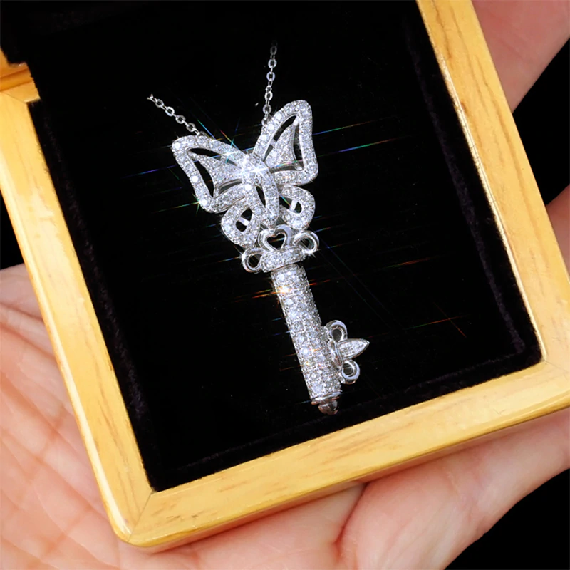 Cubic Butterfly Key Necklace - Regal Collective