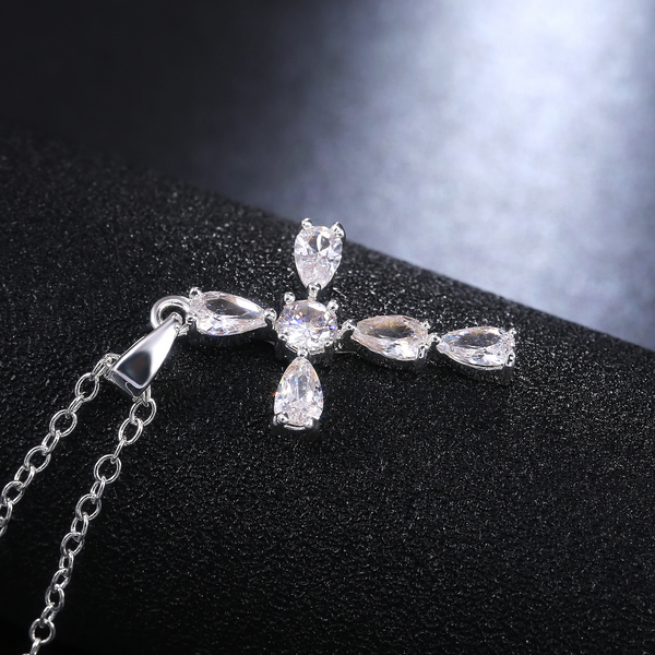 Cubic Delicate Cross Necklace - Regal Collective
