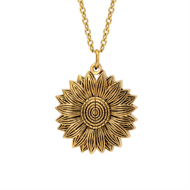 Bohemia Sunflower Double-layer Necklace - Regal Collective