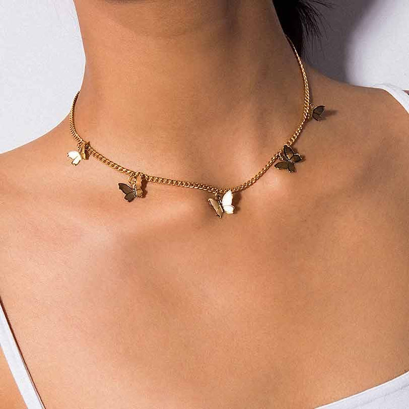 Flying Butterfly Choker Necklace - Regal Collective