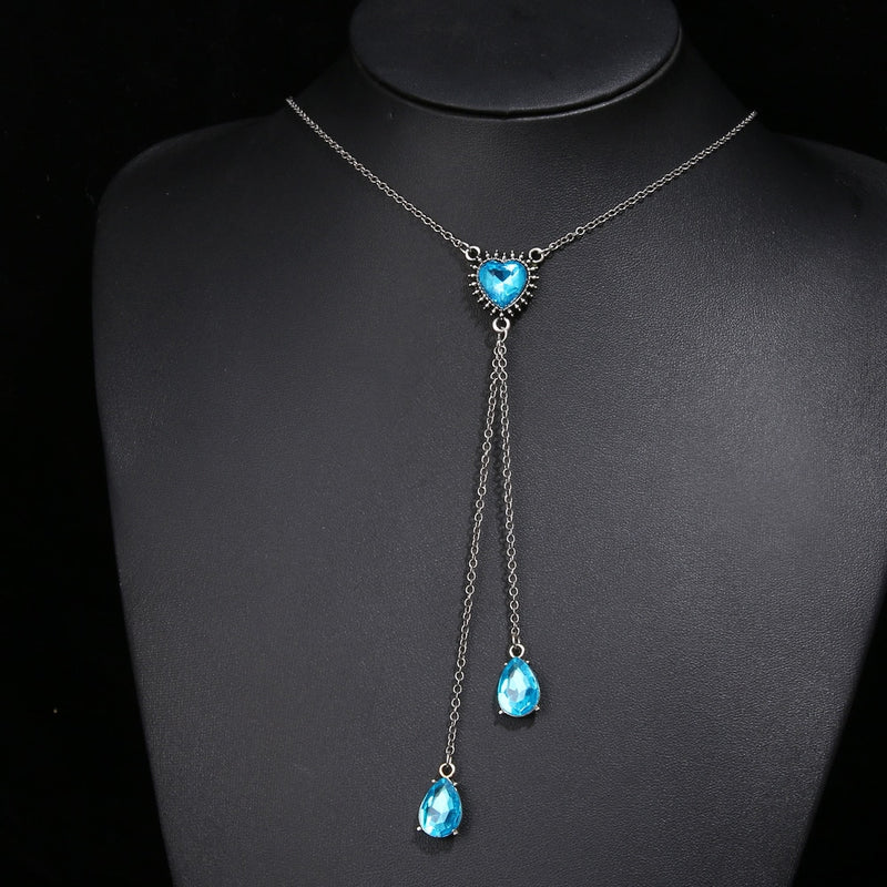 Boho Blue Crystal Vintage Choker Multilayer Necklace - Regal Collective