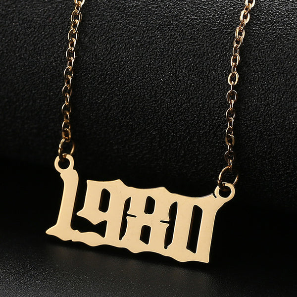 Personalized Year Number Necklace - Regal Collective