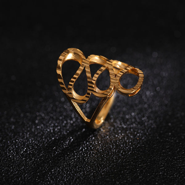 24K Yellow Gold Filled Charm Ring