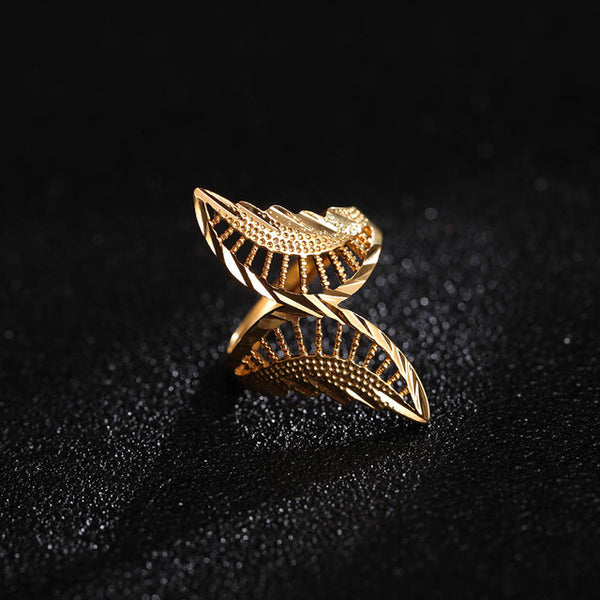 24K Yellow Gold Filled Butterfly Ring