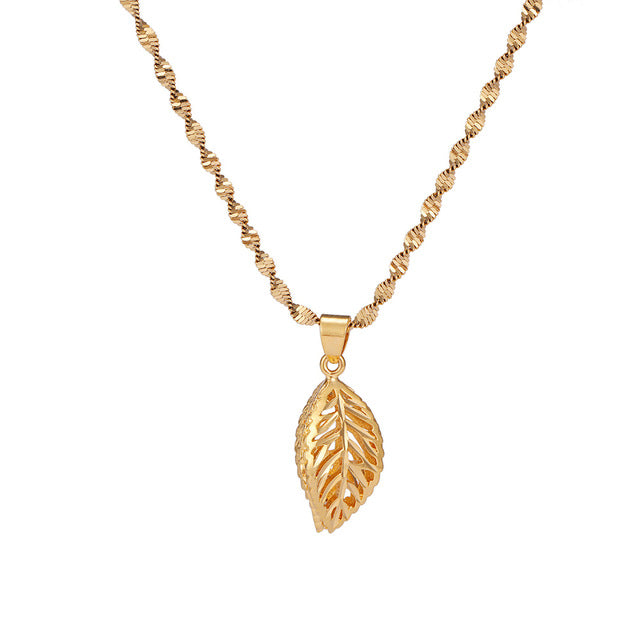 24K Yellow Gold Filled Hollow Leaf - Regal Collective
