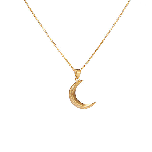 24K Yellow Gold Filled Moon Necklace - Regal Collective
