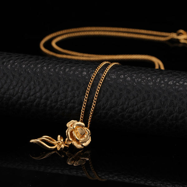 24K Yellow Gold Filled Rose Flower - Regal Collective