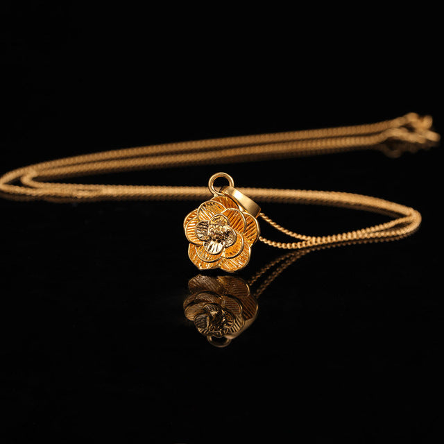 24K Yellow Gold Filled Exquisite Flower - Regal Collective