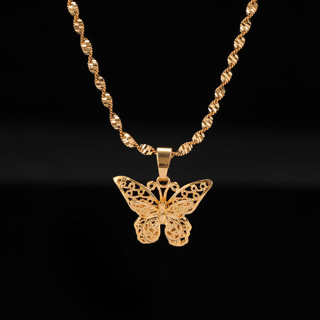 24K Yellow Gold Filled Butterfly Necklace - Regal Collective