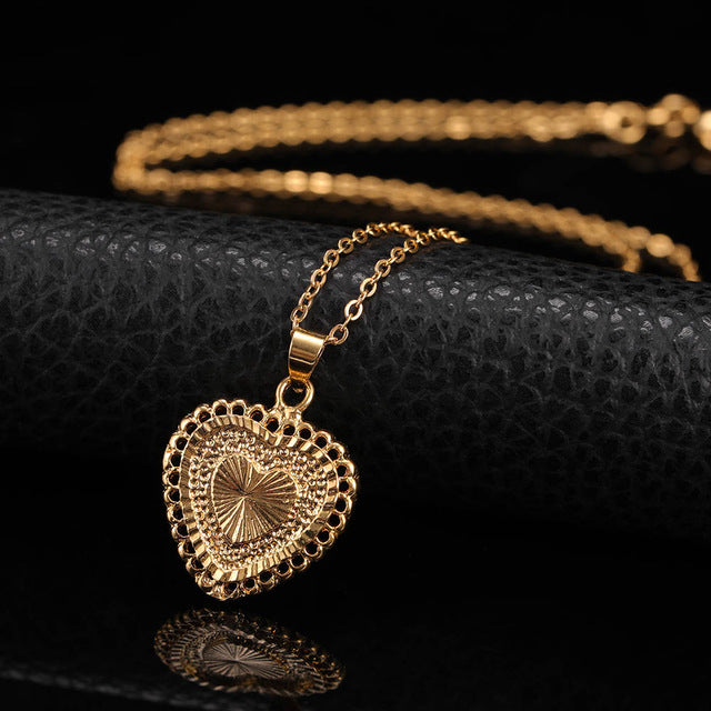 24K Yellow Gold Filled Delicate Heart - Regal Collective