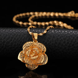 24K Yellow Gold Filled Hollow Flower - Regal Collective