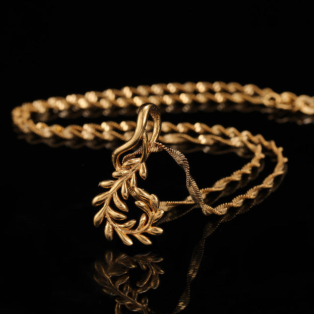 24K Yellow Gold Filled Olive Branch - Regal Collective