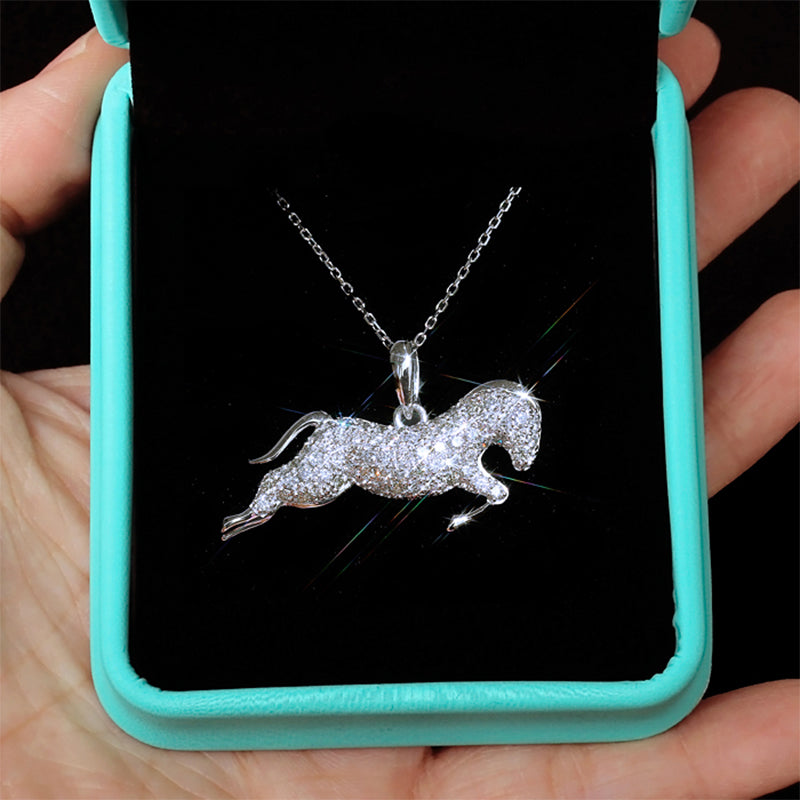 Cubic Running Horse Necklace - Regal Collective