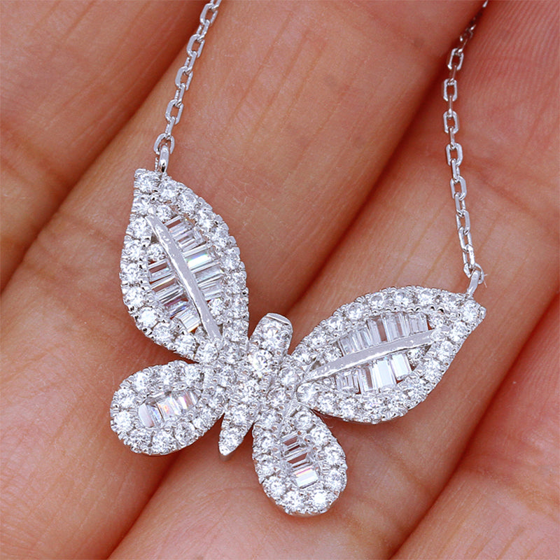 Cubic Butterfly Necklace - Regal Collective