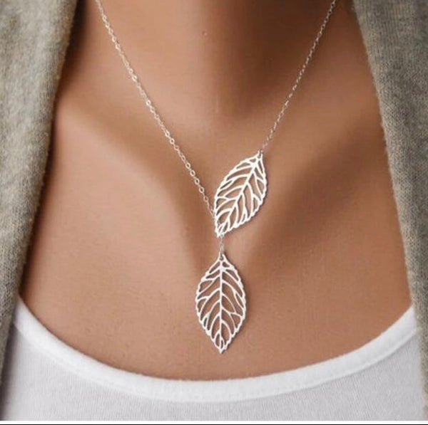 Golden Leaves Chain Necklace