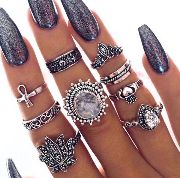 Majestic Bohemian Ring Set - Regal Collective