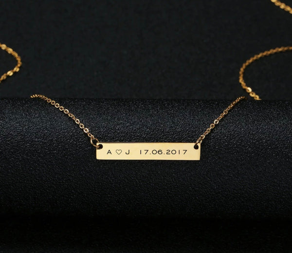 Engraved Personalized Name Necklace - Regal Collective