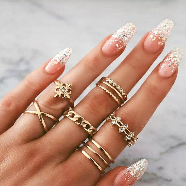 Criss cross ring set - Regal Collective