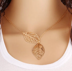 Golden Leaves Chain Necklace - Regal Collective