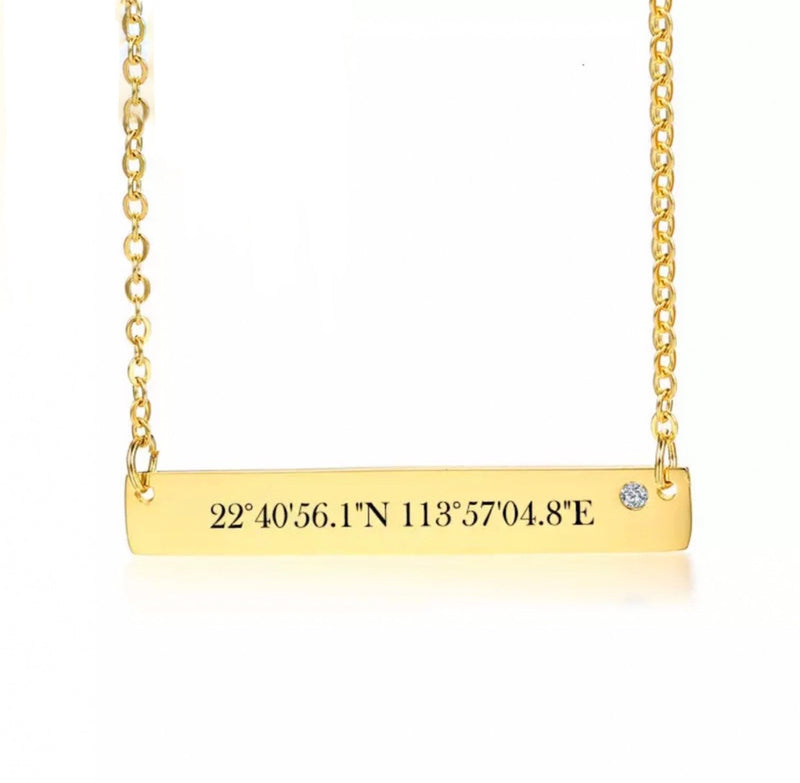 Coordinate Bar Necklace - Regal Collective