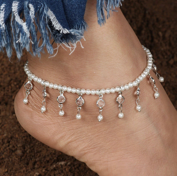 Elastic Pearl Anklet - Regal Collective