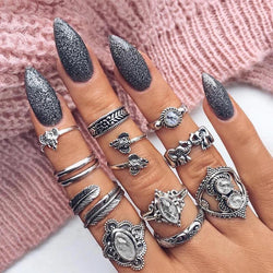 Retro Crystal Ring set - Regal Collective