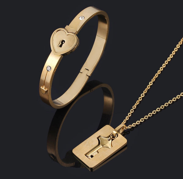 Love Lock Bracelet Key Set - Regal Collective