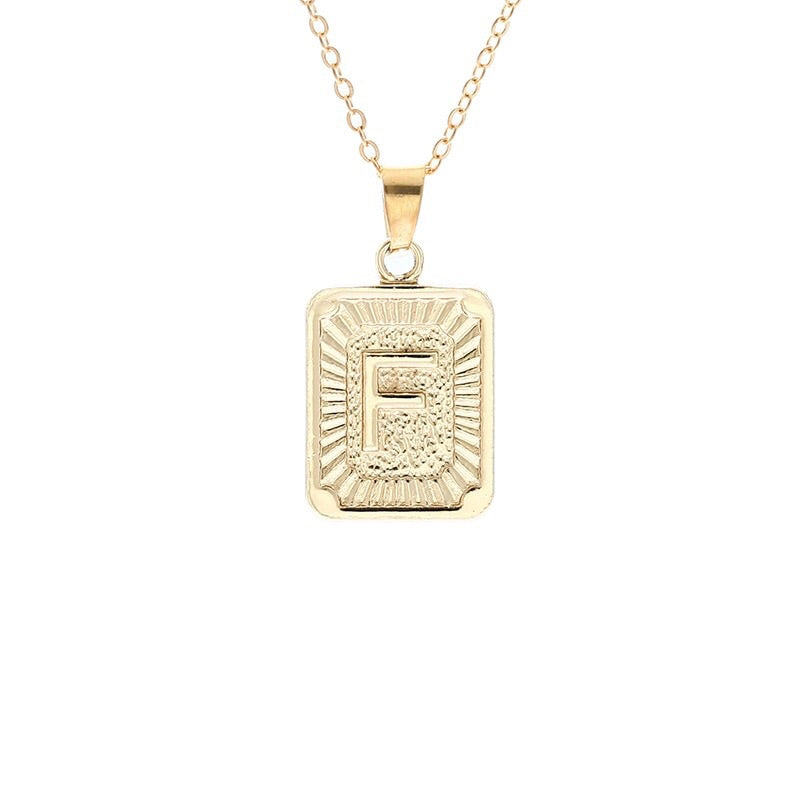 Gold Block Necklace - Regal Collective