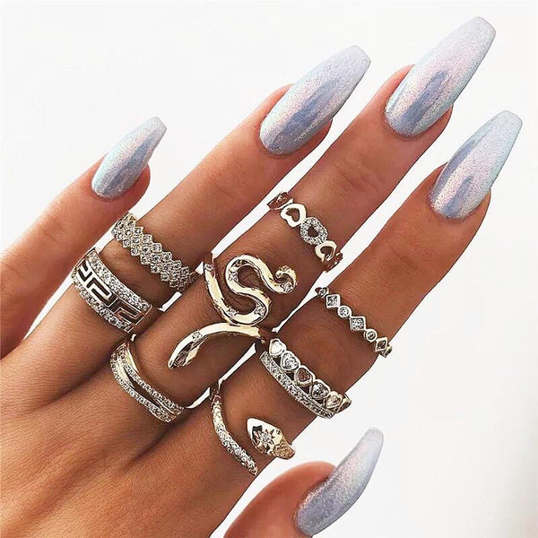 Bohemian Snake Ring Set - Regal Collective