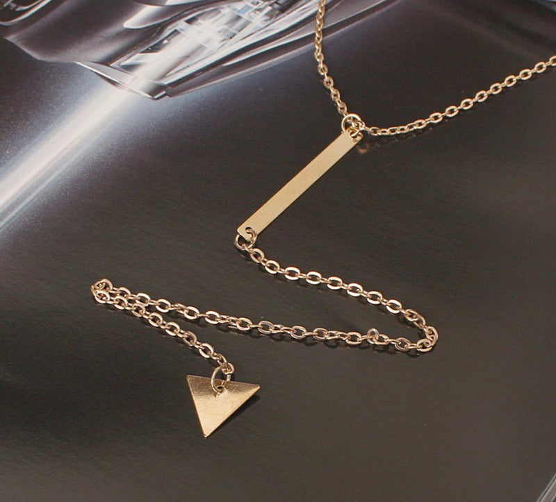 Golden Light Triangle Pendant - Regal Collective