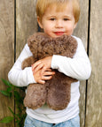Buy Flatout Bear - Sheepskin Chocolate Teddy Bear