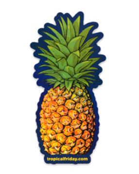 Holographic Pineapple Mini Sticker