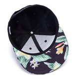 Black Frangipani Tropical Snapback
