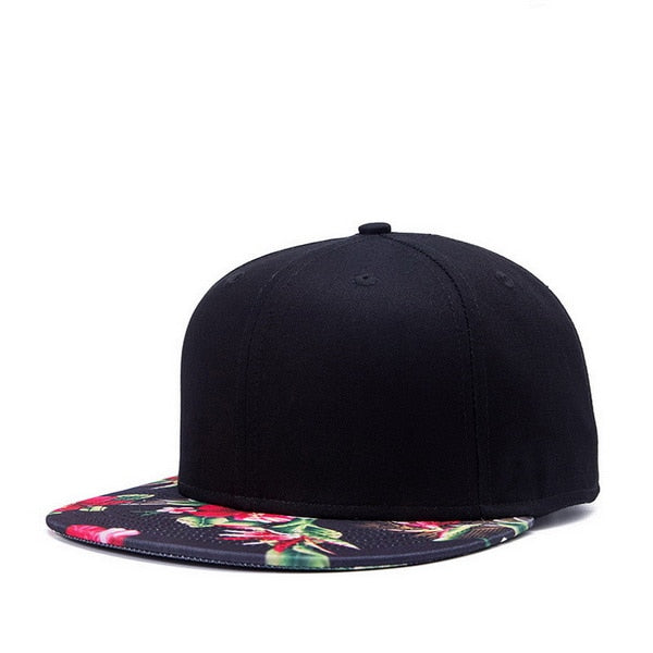 Black N' Pink Tropical Snap Back