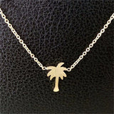Palm Tree Necklace in Gold or Silver