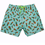 Pineapples on Blue Board Shorts