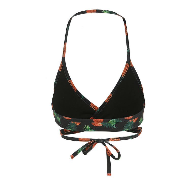 Black Pineapple Push Up Bathing Suit