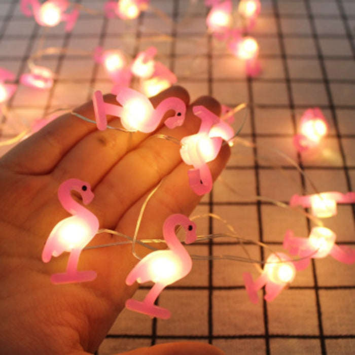 Light Up Flamingos on a String