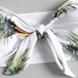 White Strapless Pineapple Bathing Suit