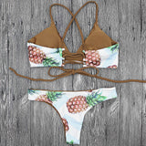 Cheeky Pineapples w/ Braided Straps Bathing Suit