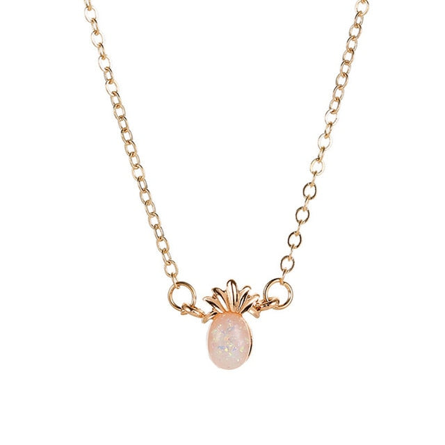 Opal Pineapple Pendant Necklace