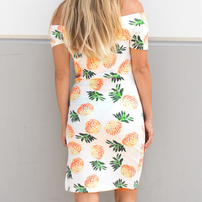 Off the Shoulder Pineapple Dress
