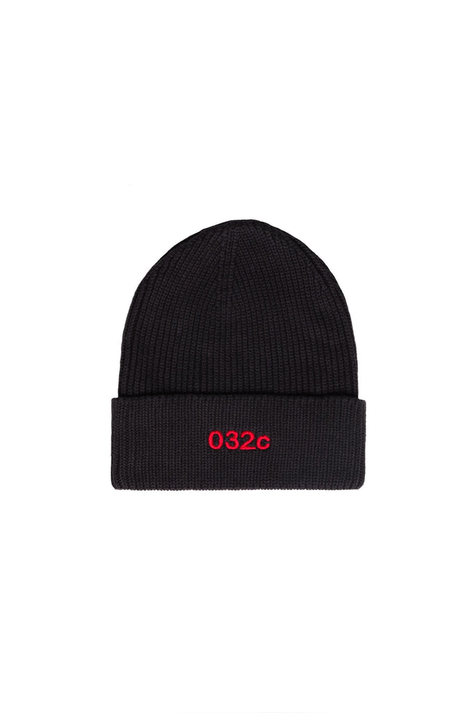 Beanie with Logo Embroidery - Black