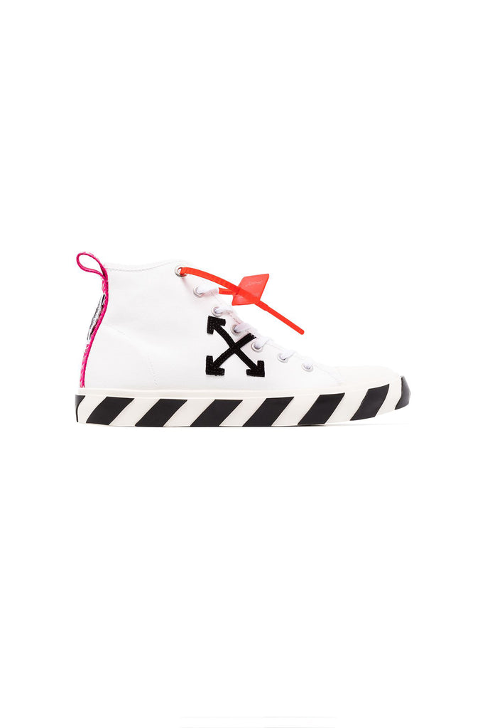 OFF-WHITE: Mid Top Sneaker - Black | LESSONS